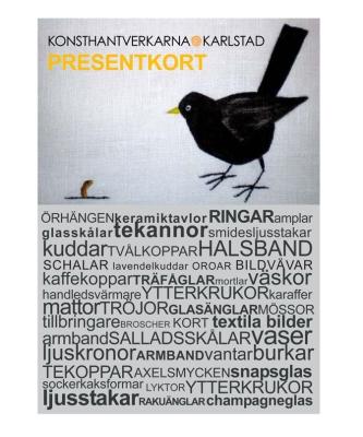 Presentkort till Konsthantverkarna Karlstad